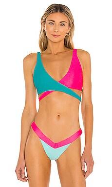 Skylar Wrap Bikini Top Beach Bunny $110