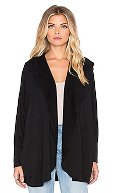 Beautiful People Supersoft Fleece Cardigan in Black