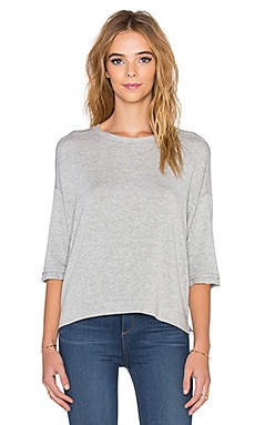 Supersoft Fleece Shortsleeve Sweatshirt in Grey