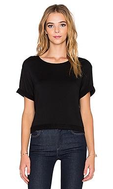 Beautiful People Supersoft Fleece Crop Sweatshirt in Black