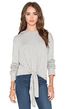 Beautiful People Tie Front Hoodie in Grey