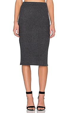 Beautiful People Midi Skirt in Charcoal