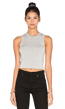 Supersoft Fleece Crop Tank in Grey