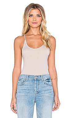 Beautiful People Rib Racerback Cami in Buff