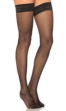 Fishnet Leg Plain Top Hosiery