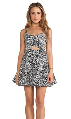 BEC&BRIDGE Snow Leopard Dress in Print