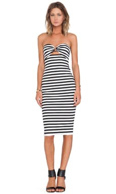 BEC&BRIDGE Seven Wonders Strapless Dress in Stripe