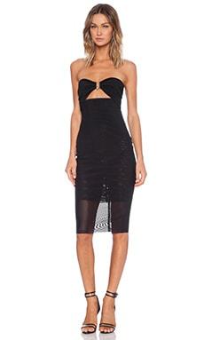 BEC&BRIDGE Paradise City Strapless Dress in Black