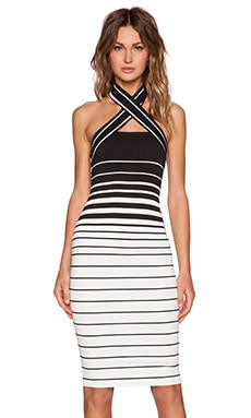 BEC&BRIDGE Zodiac Halter Dress in Stripe