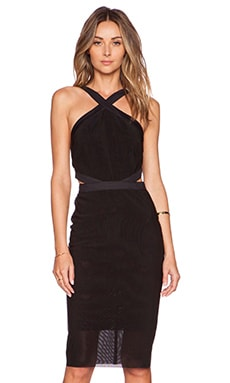 BEC&BRIDGE Parallel Halter Dress in Black
