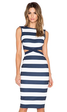 BEC&BRIDGE Mind Warp Dress in Navy Stripe