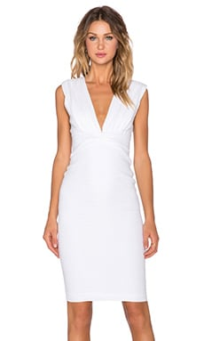 BEC&BRIDGE Strange Invader Deep V Dress in White