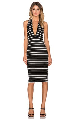 BEC&BRIDGE Jedi Deep V Dress in Black
