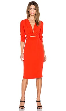 Bon Bon Long Sleeve Dress en Fire