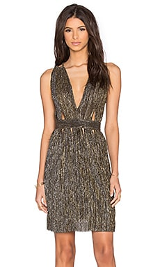 Santal Double Strap Dress in Gold Silver