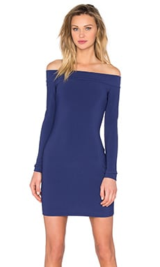 BEC&BRIDGE Dancing Moon Off Shoulder Dress in Regency Blue