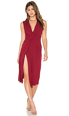 Arizona Plunge Dress in Burgundy