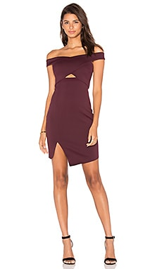 Banditti Crossover Dress in Claret