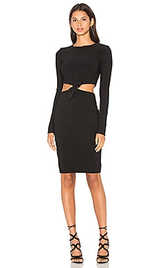 Lucienne Long Sleeve Dress en Noir