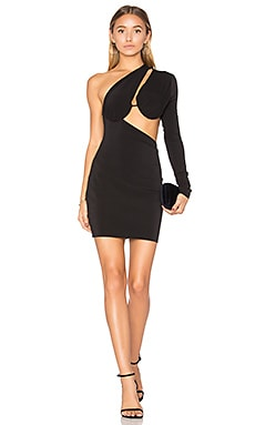 Warriors Keeper Asymmetrical Dress in Black
