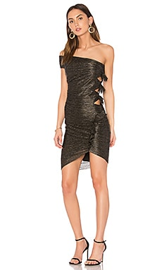 Glitter Rain Dress in Black & Silver & Gold