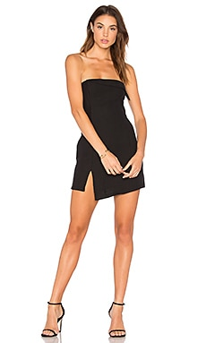 Jungle Hunt Strapless Dress in Black