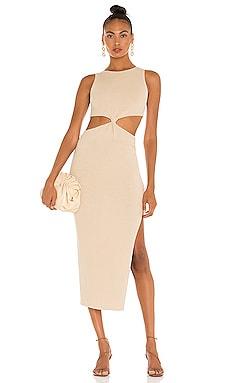 Riviera Knit Twist Midi Dress BEC&BRIDGE $298 NEW