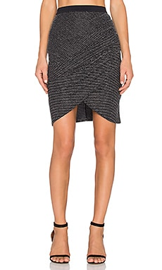 BEC&BRIDGE Magic Night Mini Skirt in Silver Stripe
