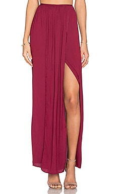 BEC&BRIDGE Desert March Maxi Skirt in Rasberry
