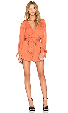 BEC&BRIDGE Shifting Sands Romper in Rust