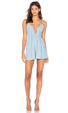 BEC&BRIDGE Tailsman Romper in Bleached