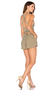 Jungle Hunt Romper in Palm