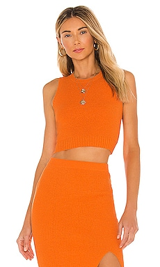 Lemon Squeezy Knit Crop Top BEC&BRIDGE $160