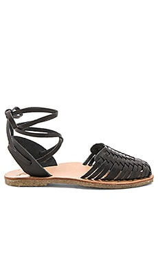 The Parakeet Sandal in Black & Natural