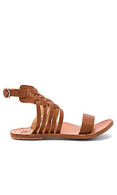The Raven Sandal in Tan & Tan