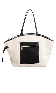 BOLSO TOTE CANVAS BEIS $98