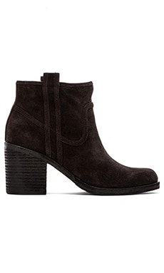 Belle by Sigerson Morrison Lagoon Bootie in Dark Gray Suede