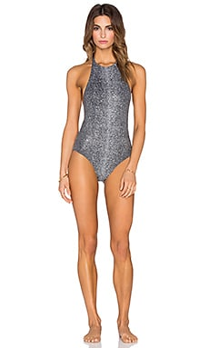 BELUSSO Carine One Piece in Black Shagreen
