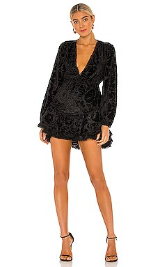 X REVOLVE Noire Mini Dress HEMANT AND NANDITA $405 NEW