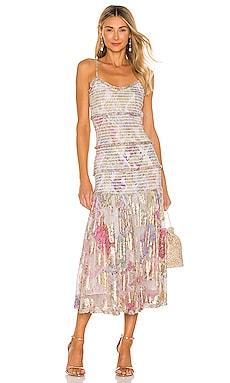Asher Midi Dress HEMANT AND NANDITA $495 BEST SELLER