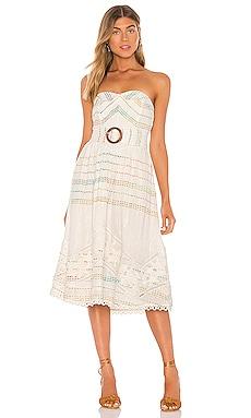 Thea Midi Dress HEMANT AND NANDITA $432 NEW ARRIVAL