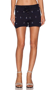 HEMANT AND NANDITA Embellished Short in Navy