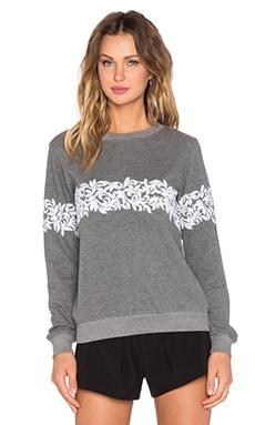 HEMANT AND NANDITA Embroidered Crew Neck Sweatshirt in Grey