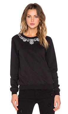 HEMANT AND NANDITA Crew Neck Embellished Sweatshirt en Noir