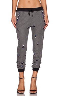 HEMANT AND NANDITA Embellished Sweatpant in Grey Melange