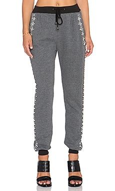 HEMANT AND NANDITA Embellished Front Sweatpant in Grey