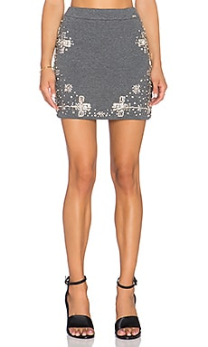 Crystalized Mini Skirt in Grey