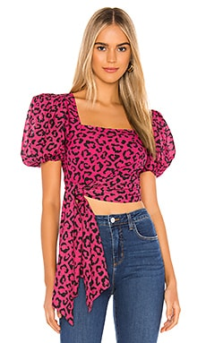 X REVOLVE Rica Side Cascade Blouse HEMANT AND NANDITA $179