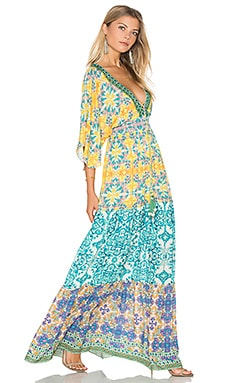 Caftan Maxi in Yellow Vintage Tile