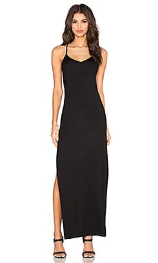 Benjamin Jay Tongue Tied Maxi Dress in Black